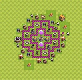 Base plan Town Hall level 6 for farming (variant 8)