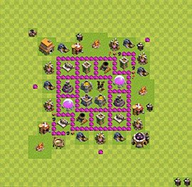 Base plan Town Hall level 6 for farming (variant 9)