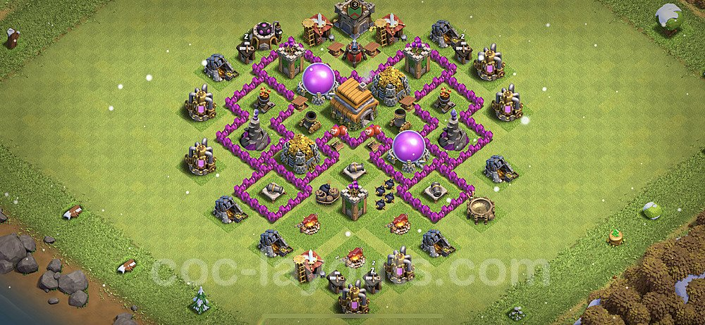 Base plan TH6 (design / layout) with Link for Farming 2021, #143