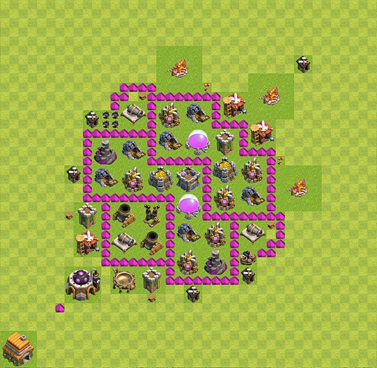 Base plan TH6 (design / layout) for Farming, #23