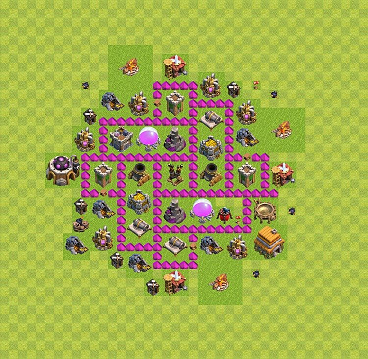 Base plan TH6 (design / layout) for Farming, #42