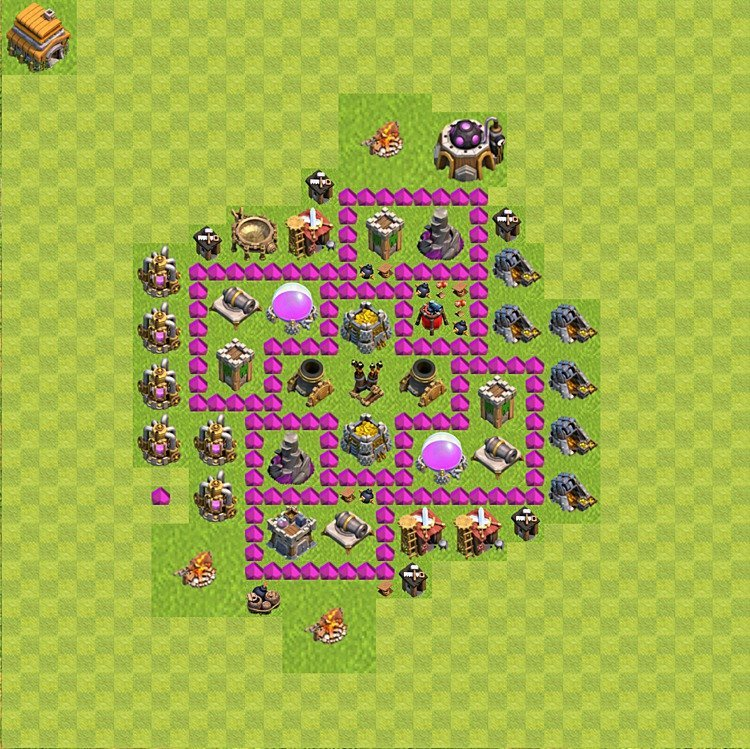 Base plan TH6 (design / layout) for Farming, #57