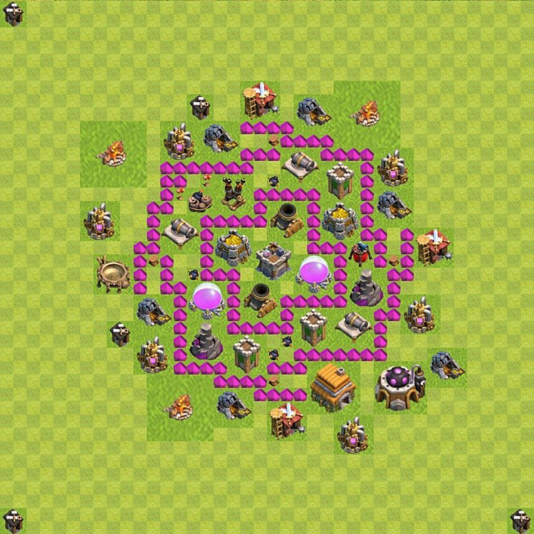 Base plan TH6 (design / layout) for Farming, #63