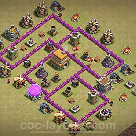 TH6 War Base Plan with Link, Copy Town Hall 6 CWL Design 2020, #15
