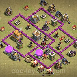 TH6 War Base Plan with Link, Copy Town Hall 6 CWL Design 2020, #17