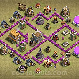 TH6 War Base Plan with Link, Copy Town Hall 6 CWL Design 2021, #18