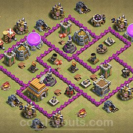 TH6 War Base Plan with Link, Copy Town Hall 6 CWL Design 2021, #19