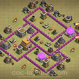 TH6 War Base Plan with Link, Copy Town Hall 6 CWL Design 2021, #20