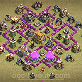 Die Clan War Base RH6 + Link 2021 - COC Rathaus Level 6 Kriegsbase (CK / CW) - #21