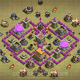 Die Maximal Clan War Base RH6 + Link 2021 - COC Rathaus Level 6 Kriegsbase (CK / CW) - #22