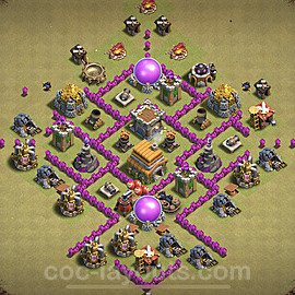 TH6 War Base Plan with Link, Copy Town Hall 6 Design 2021, #24