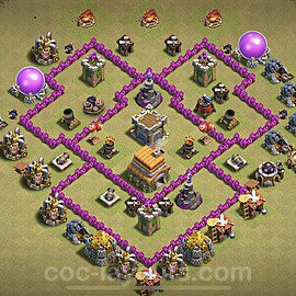 TH6 Max Levels War Base Plan with Link, Copy Town Hall 6 Design 2021, #25