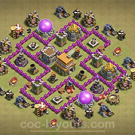 TH6 War Base Plan with Link, Copy Town Hall 6 Design 2021, #27