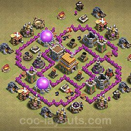 TH6 War Base Plan with Link, Copy Town Hall 6 CWL Design 2020, #5