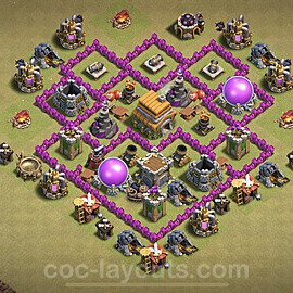 TH6 Max Levels CWL War Base Plan with Link, Copy Town Hall 6 Design 2020, #8