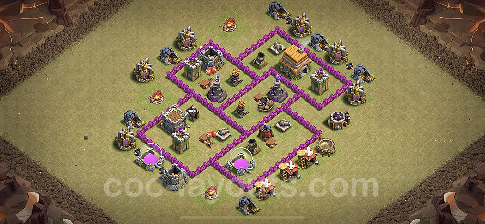 TH6 War Base Plan with Link, Copy Town Hall 6 Design 2020, #10