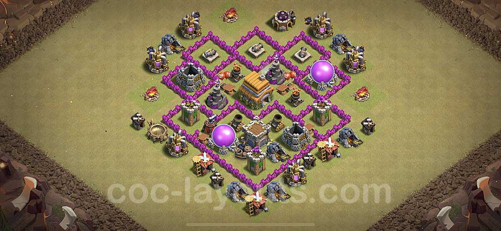 TH6 Max Levels War Base Plan with Link, Copy Town Hall 6 Design 2020, #8