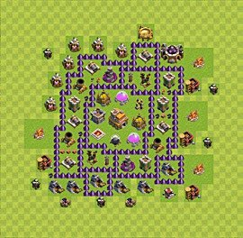Base plan Town Hall level 7 for trophies (defence) (variant 10)