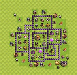 Base plan Town Hall level 7 for trophies (defence) (variant 12)