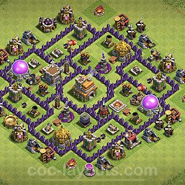 Anti Everything TH7 Base Plan with Link, Copy Town Hall 7 Design 2020, #185