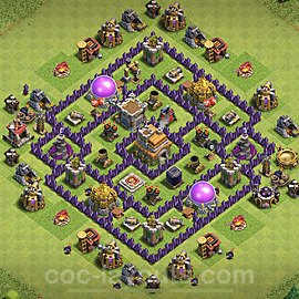 Anti Everything TH7 Base Plan with Link, Copy Town Hall 7 Design 2020, #186