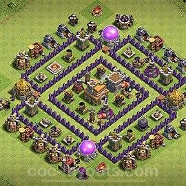 Full Upgrade TH7 Base Plan with Link, Copy Town Hall 7 Max Levels Design 2020, #187