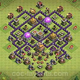 TH7 Anti 3 Stars Base Plan with Link, Copy Town Hall 7 Base Design 2020, #195