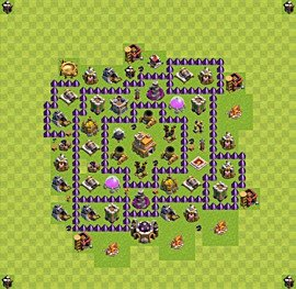 Base plan Town Hall level 7 for trophies (defence) (variant 21)