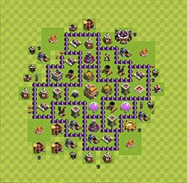 Base plan Town Hall level 7 for trophies (defence) (variant 38)