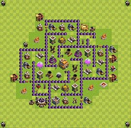 Base plan Town Hall level 7 for trophies (defence) (variant 45)