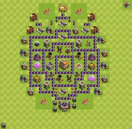 Base plan Town Hall level 7 for trophies (defence) (variant 49)