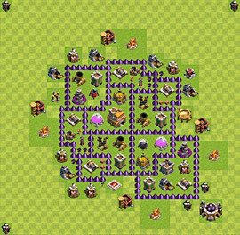 TH7 Trophy Base Plan, Town Hall 7 Base Design, #52