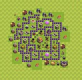 TH7 Trophy Base Plan, Town Hall 7 Base Design, #53