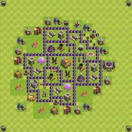 TH7 Trophy Base Plan, Town Hall 7 Base Design, #56