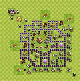 TH7 Trophy Base Plan, Town Hall 7 Base Design, #58