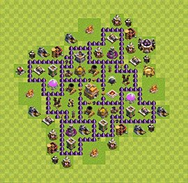 Base plan Town Hall level 7 for trophies (defence) (variant 7)