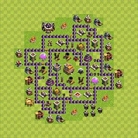 Base plan Town Hall level 7 for trophies (defence) (variant 70)