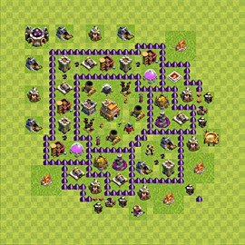 Base plan Town Hall level 7 for trophies (defence) (variant 87)
