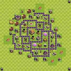 Base plan Town Hall level 7 for trophies (defence) (variant 88)