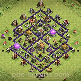 Diseño de aldea para Defensa Ayuntamiento 7 Copiar - COC TH7 Perfecta Distribucion 2020 + Enlace - #90