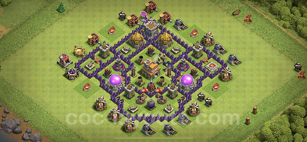 Anti Dragon TH7 Base Plan with Link, Copy Town Hall 7 Anti Air Design 2020, #190
