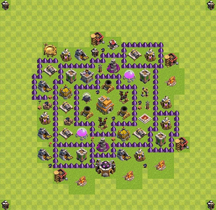 TH7 Trophy Base Plan, Town Hall 7 Base Design, #21
