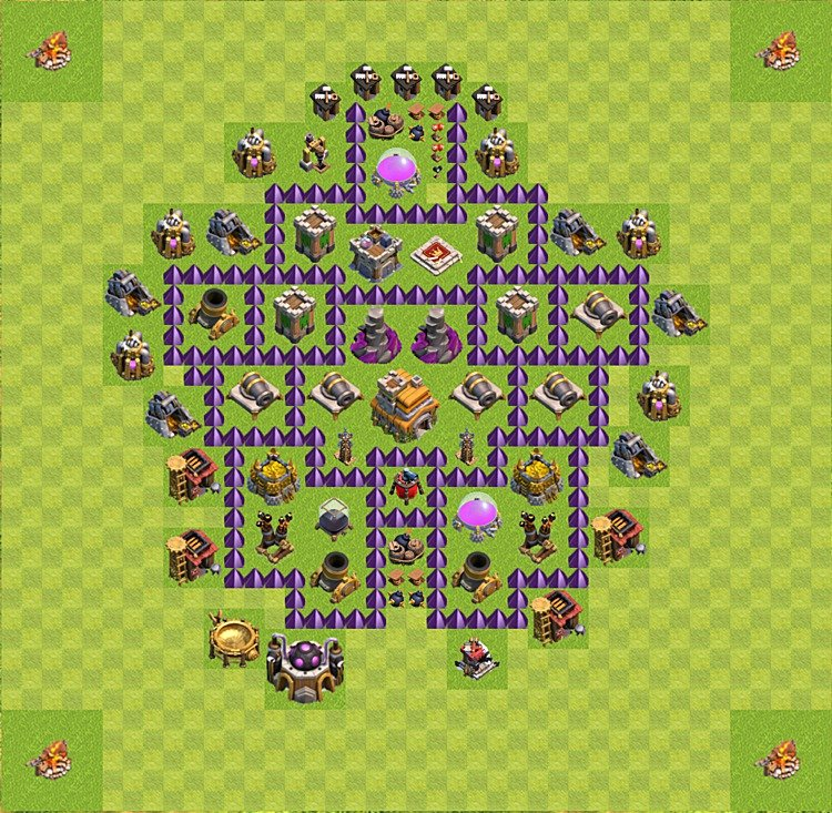 TH7 Trophy Base Plan, Town Hall 7 Base Design, #48