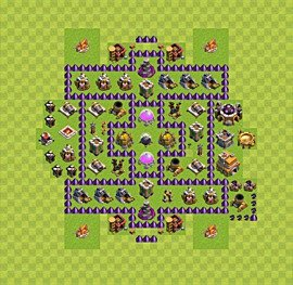 Base plan Town Hall level 7 for farming (variant 10)