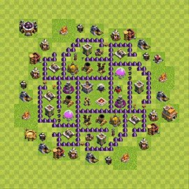 Base plan Town Hall level 7 for farming (variant 101)