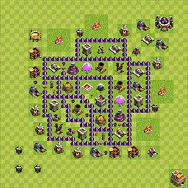 Base plan Town Hall level 7 for farming (variant 102)