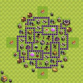 Base plan Town Hall level 7 for farming (variant 103)