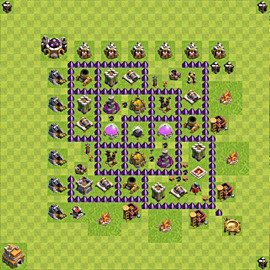 Base plan Town Hall level 7 for farming (variant 104)