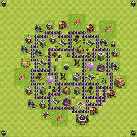 Base plan Town Hall level 7 for farming (variant 105)