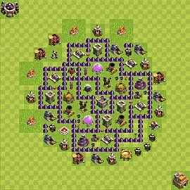 Base plan Town Hall level 7 for farming (variant 106)